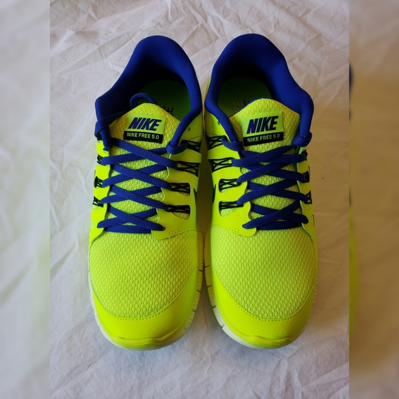 Nike Free 5.0 Mens Shoes Neon Yellow Size 9.5